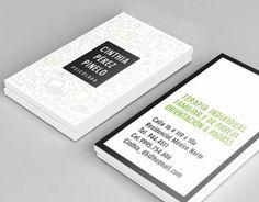 Tarjetas de presentación para una psicologa, especializada en terapia individual, familiar y de pareja.