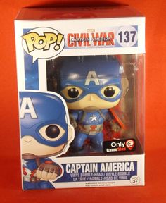 NEW FUNKO POP MARVEL CAPTAIN AMERICA GAME STOP EXCLUSIVE VINYL BOBBLEHEAD