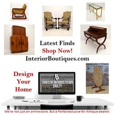 The team at Interior Boutiques seek to fulfil your design dreams by giving you a database of Antiques to Mid-Century Design and Art pieces from various dealers and designers. We hope you'll find our website exciting and inspirational. We are passionate about high quality, incredibly beautiful decorative pieces of furniture and, of course, by extension, decoration.