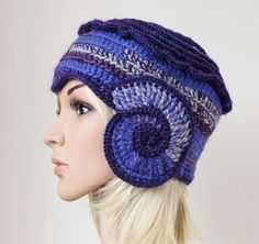 Hey, I found this really awesome Etsy listing at https://www.etsy.com/listing/173035817/purple-cloche-womens-winter-hat-freeform