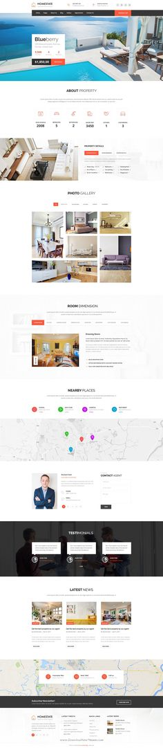 Homestate is a professional, modern crafted PSD template which can be used for single #property, #realestate, business and related to any real estate company. #website