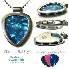 Guitar Pick Holder Pendant Necklace PickBay Stainless Steel & 6 Bright Jewel-tone Picks, http://www.amazon.com/dp/B0057EJO6A/ref=cm_sw_r_pi_awd_wn.psb0F98N1C