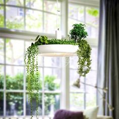 79.20$  Buy now - http://aliysv.worldwells.pw/go.php?t=32637257393 - LED Hanging Gardens of Babylon Plants Lamp Pots Potted Nordic Tom Creative White Chandelier Lighting Without Plants and Flowers