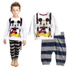 autumn&winter pure cotton kid's clothing boy girls baby cartoon underwear white loungewear kit pajama-import-express.com