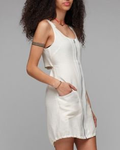 arm band tattoo with rag and bone dress.