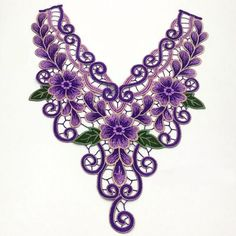 New Lace Collar Applique Embroidery Patch Trim Motif Venise Neckline Sew Craft Embroidery Neck Designs, Embroidery Patches, Embroidery Applique, Floral Embroidery, Machine Embroidery, Neckline Designs, Sewing Trim, Flower Patch, Sewing Appliques