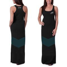 Women's Philadelphia Eagles '47 Brand Black Encore Maxi Dress