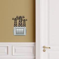 Traliccio Adesivo per interruttore, spina, placca - Light Switch Sticker