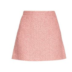 Gucci Tweed A-line mini skirt ($990) ❤ liked on Polyvore featuring skirts, mini skirts, bottoms, saias, a line skirt, high waisted skirts, a line mini skirt, mini skirt and high-waisted skirts