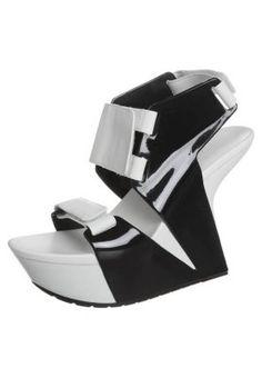 BOLT - High Heel Sandalette - black/ white