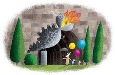 The Legend of the Wawel Dragon - Piotr Socha illustration Cartoon Kids, Bat Signal, Superhero Logos, Board Games, Illustrators, Indie, Illustration Art, Dragon, Contemporary