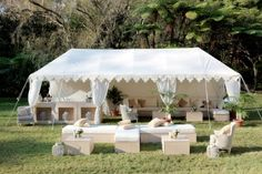 Gorgeous marquee for an outdoor event.