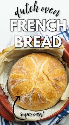 Artisan Bread Recipes, Bread Machine Recipes, Easy Bread Recipes, Easiest Bread Recipe, Same Day Bread Recipe, French Bread Recipes, Easy French Bread Recipe, Beginners Bread Recipe, Homemade French Bread