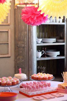 Really cute birthday party for a one year old girl!