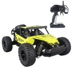 $34 Amazon.com: Fistone RC Car 2.4G High Speed Racing Cars 1:16 Iron Radio Control Monster Truck Rock Off-Road Vehicle Buggy Hobby Electronic Game Toys Model (Yellow): Toys & Games