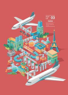 Tourism, as a kind of unknown geographical exploration activities, has now gradually been restrictedby every kind of tour packages. People has lost the desire and curiosity to explore during theintended journey due to the influence of the travel agencie… Isometric Art, Isometric Design, Poster Layout, Graphic Design Illustration, Digital Illustration, Travel Illustration, 8bit Art, Exploration, Information Design