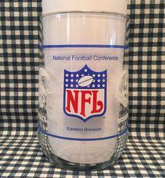 """Vintage NFL NFC Eastern Div. 4.5"""" Glass Redskins Giants Eagles Cowboys Cardinals #NFL"""