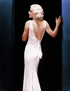 Miss Jean Harlow.....and that dress! <3 <3
