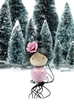 Rose de Noël Création LeS PoiS PlumeS www.lespoisplumes.fr