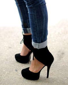 skinny jeans and heels #heels #high heel shoes