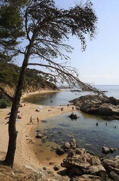 Cala Estreta, Cap Roig (near-Calella-de-Palafrugell) Costa Brava Catalonia. Sailing Cruises, Yacht Cruises, Barcelona Catalonia, Spain Holidays, Exotic Places, Going On Holiday, Spain Travel, Amazing Destinations, Beach Trip