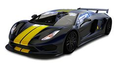 Dagger GT-R in satin black and gold metalflake racing stripes Supersport, Racing Stripes, Car In The World, Fast Cars, Car Ins, Exotic Cars, Cars And Motorcycles, Luxury Cars, Cool Cars