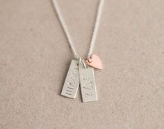 Simple Personalized Tag Necklace / Small Initial by LayeredAndLong