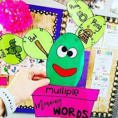 Multiple Meaning Words - Homonym Craft  #HollieGriffithTeaching #CraftsforKids #Grammar