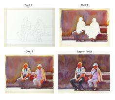 Same couple, same bench, step-by-step. Graham Berry