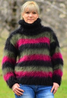 Furs, Turtle Neck, Wool, Knitting, Jumpers, Crochet, Knits, Womens Fashion, Sweaters