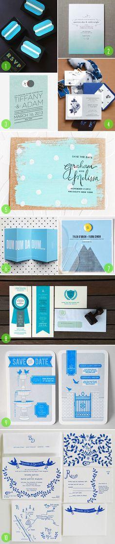 Top 10: Blue invitations