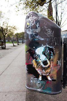 AliCé aka Alice Pasquini, Dog, Street Art, Berlin