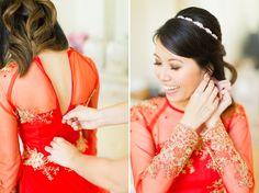 tea ceremony bride red