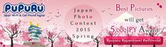 "【Best pictures in each category willget 5,000JPY award!! (iTunes Gift via email)】 Please share your best shots during your Japan travel in Pinterest or Instagram using hashtags of ‪#‎pupuru‬ , ‪#‎japantravel‬ , ‪#‎wifirental‬ This time we accept your photos in 3 categories. ""Cherry Blossom"" , ""Japan Traditional""(shrine, temple, festibal etc) , ""Portrait with Japan motif"". Best pictures in each category will get 5,000JPY award. http://www.pupuru.com/sp/photo_contest2015_spring.html"