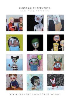 Art calendar 2015 by Kari Anne Marstein. Kunstkalender 2015