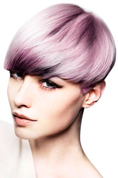 Lilac crop hairstyle. Not for me but if anyone is looking for something funky and drastic this is really cool!