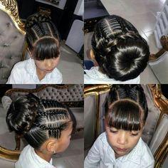 Mixed Kids Hairstyles, Kids Braided Hairstyles, Flower Girl Hairstyles, Little Girl Hairstyles, Curly Hair Styles, Natural Hair Styles, Girl Hair Dos, Hair Doo, Girls Braids