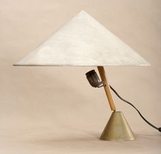 Carl Auböck; #3875 Table Lamp for  Werkstätte Carl Auböck, 1948.