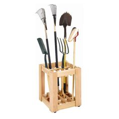 This Cedar Creek Tool Rack was sold out, but I bet it wouldn't be hard to make! Megan, this would be a nice Mother's day gift!