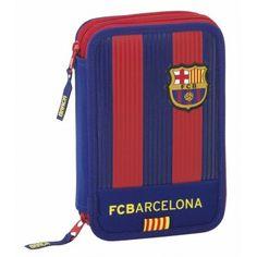 Estuche Plumier doble completo 34 piezas de F. C. Barcelona 49603eaaffd