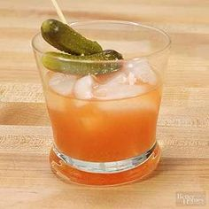 Forget the pickleback we put the pickle juice right in with the whiskey in this well-balanced cocktail recipe. /