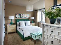 - Guest Bedroom Pictures From HGTV Smart Home 2014 on HGTV this is the color scheme I might want for our room! Guest Bedroom Decor, Guest Bedrooms, Home Bedroom, Bedroom Ideas, Master Bedroom, Preppy Bedroom, Master Bathrooms, Girl Bedrooms, Small Bedrooms