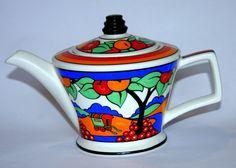 Sadler Clarice Cliff design 'Caravan' pattern teapot.
