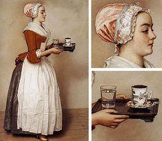 La belle chocolatière, 1744-1745, Jean-Etienne Liotard