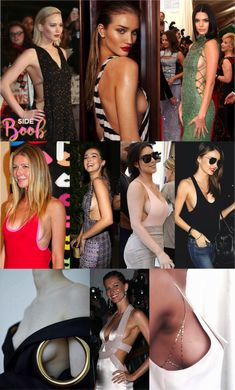 """O Sideboob foi uma espécie de moda que foi tomando conta das famosas, deixando uma """"bochecha"""" de peito à mostra"""