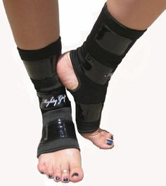 Black Mighty Grip Pole Dancing Ankle Protectors with Tack Strips for Gripping the Pole (1 pair) $19.95 - $24.95