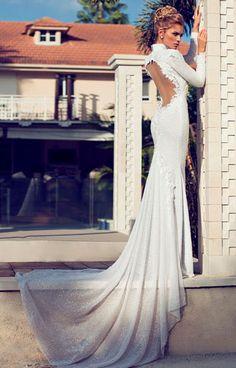 Nerit Hen свадебное платье с открытой спиной | смотреть фото цены купить