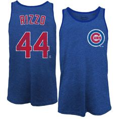 Anthony Rizzo Chicago Cubs Majestic Threads Name & Number Tri-Blend Tank Top - Royal