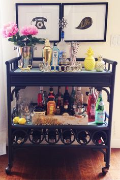 I+love+my+bar+cart!+Its+ambience+creates+a+cool,+relaxed,+always+ready+for+a+good+time+vibe!