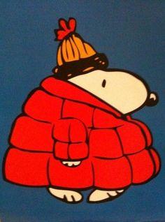 I feel ya snoopy! Me in my winter coat :)